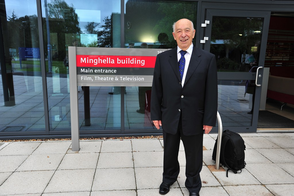 Edward Minghella at the opening of the Minghella building, Reading University, 2012. Photo: Dominic Minghella
